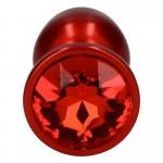 Μικρή μεταλλική κόκκινη τάπα με στρας